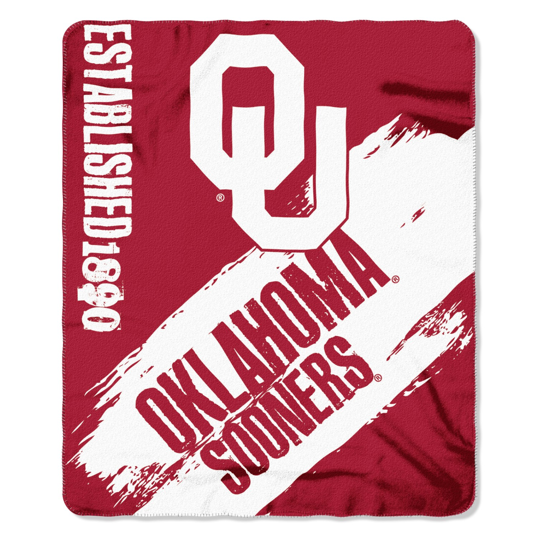 Oklahoma Sooners Painted Fleece Throw