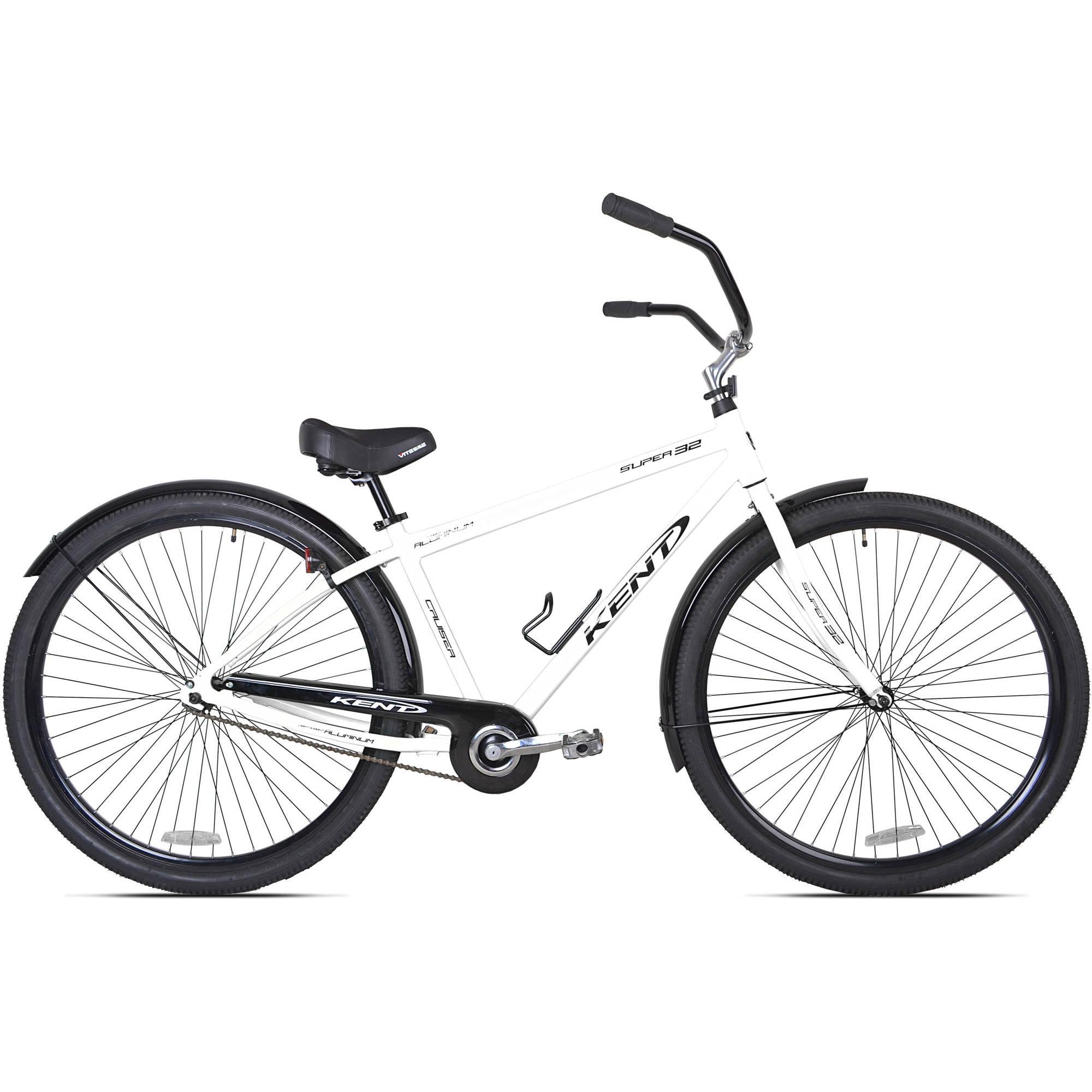 32 kent super 32 unisex beach cruiser bike white