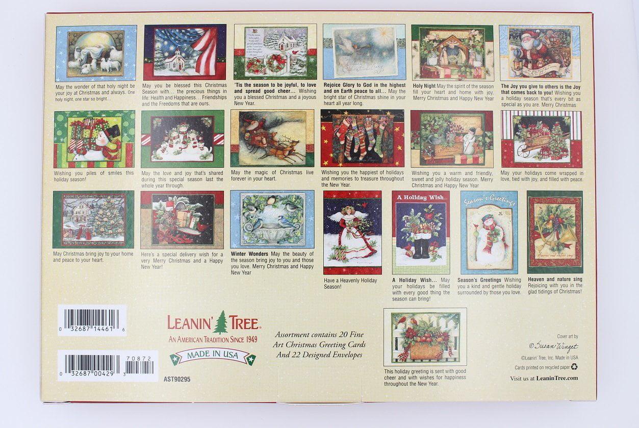 AST90295 The Art of Susan Winget Christmas Card Box Set, 20 Greeting ...