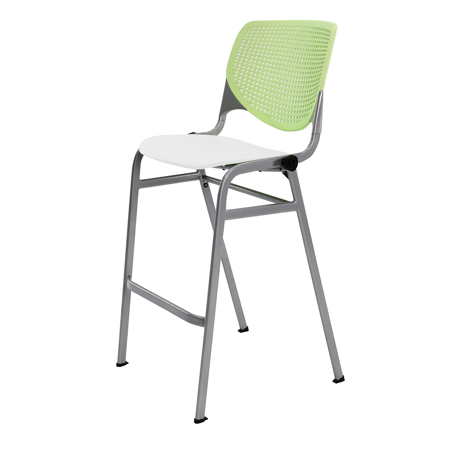 kool furniture. KFI Seating KOOL Poly Stacking Barstool, Lime Green Back, White Seat Kool Furniture