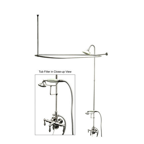 Elements of Design Vintage Volume Control Tub and Shower Faucets with Metal Lever Handles