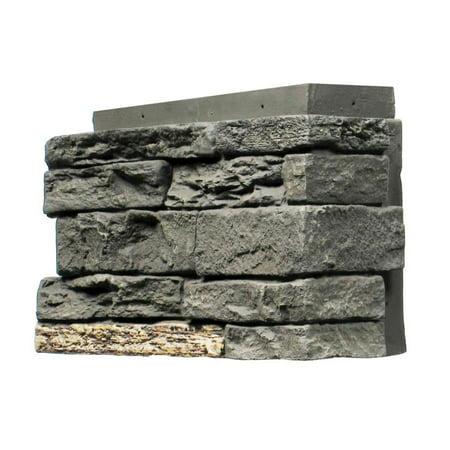 NextStone™ Faux Polyurethane Stone Outside Corner Slatestone - Midnight Ash ()