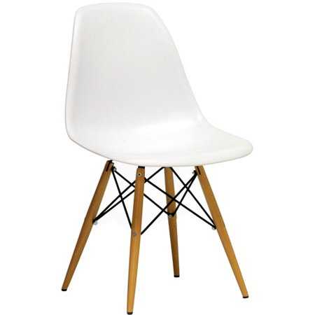 Baxton Studio AZZO Plastic Side Chair, White