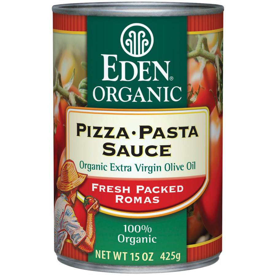 Eden Pizza Pasta Sauce, Organic - can, 15 Ounce (Pack of 3)