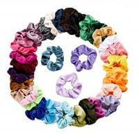 iLH Mallroom 36 Pcs Velvet Elastic Hair Bands Scrunchy For Women Or Girls Hair Accessories