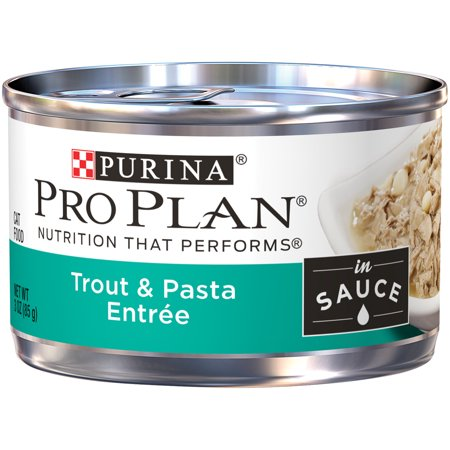 Purina Pro Plan Trout & Pasta Entree in Sauce Adult Canned Wet Cat Food - (24) 3 oz. Cans ()