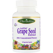 Paradise Herbs  ActiVin  Grape Seed Extract  30 Vegetarian Capsules