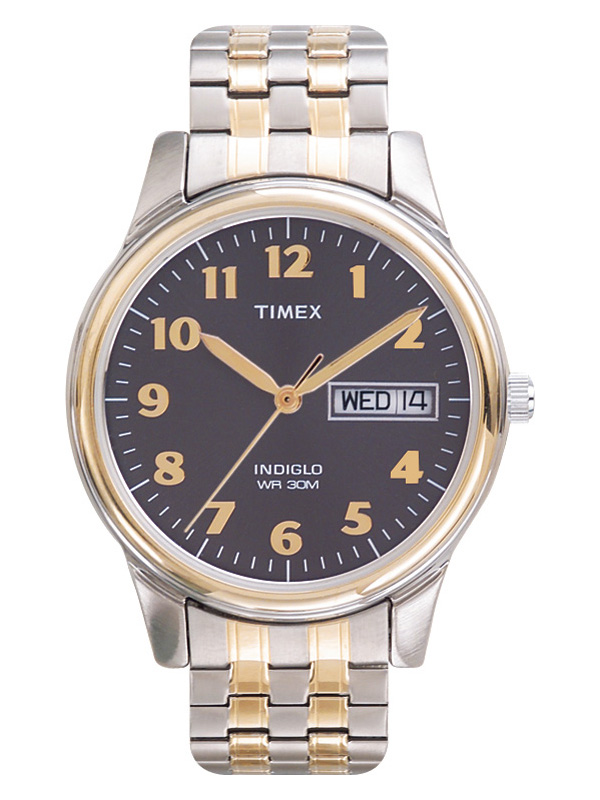 Timex Men's Easy Reader Watch, Two-Tone Extra-Long Stainless Steel Expansion Band by Timex