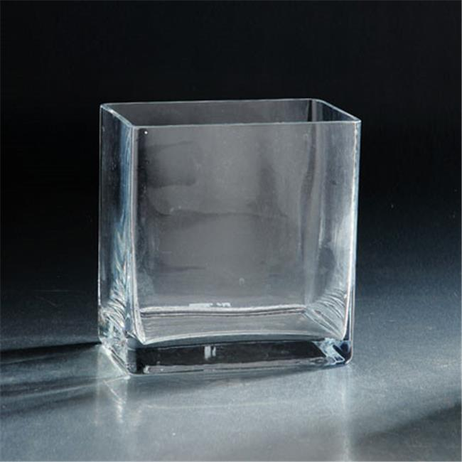 Diamond Star 84818C 6 x 6 x 6 in. Square Glass Votive, Clear