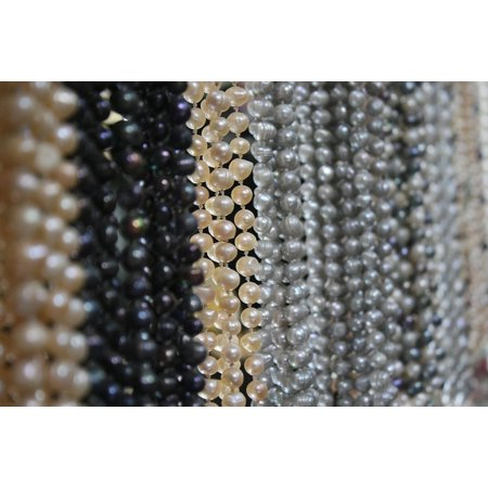 Canvas Print Gem Necklace Jewel Pearls Jewelry Fashion Stretched Canvas 10 x -