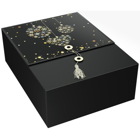 EZ Gift Box Ornament Karma 12x9x4 Christmas Present Box Pops Up in Seconds No Wrapping Needed Perfect for Holiday Storage ()