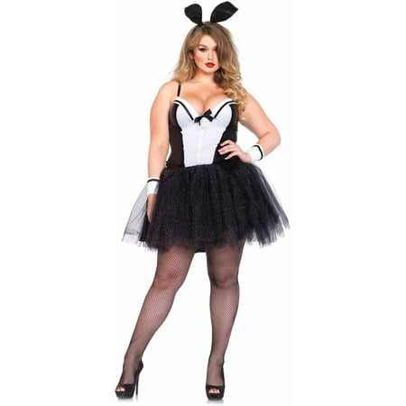 Leg Avenue Women's Plus Size Sexy Tuxedo Bunny Rabbit (Women's Plus Size Halloween Costumes Clearance)