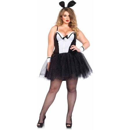 Leg Avenue Plus Size 4-Piece Curvy Bunny Adult Halloween Costume