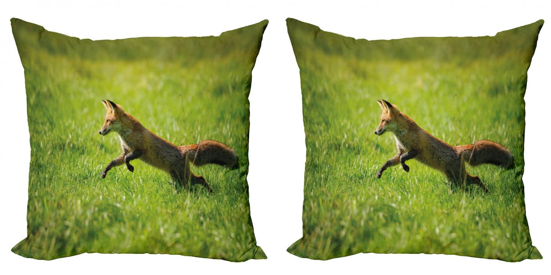 Set of 4 Matching Pen Wild Red Fox Jumping Winter  #46440