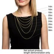 Fremada  14k Yellow Gold Box Necklace (16-30 inch)