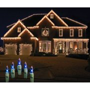Christmas at Winterland WL-IC100-B 100 Light Incandescent Blue Icicle String
