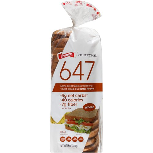 Schmidt Old Tyme 647 Wheat Bread, 18 oz