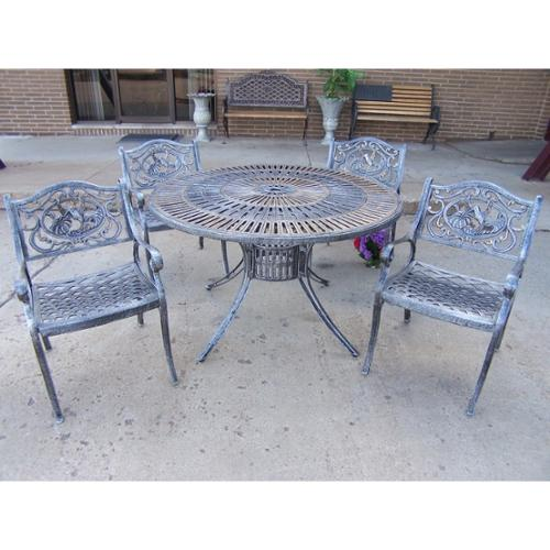Sundance Bronze Aluminum/Steel 5-piece Outdoor Dining Set