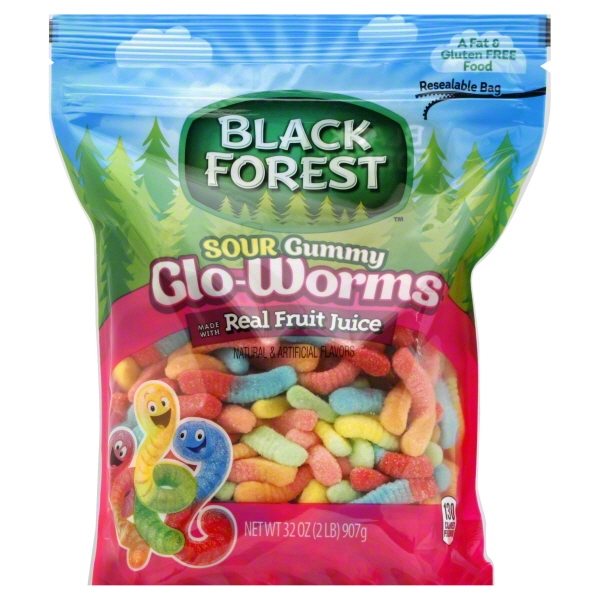 Black Forest Glo Worms Candy, 2 Pound Bag