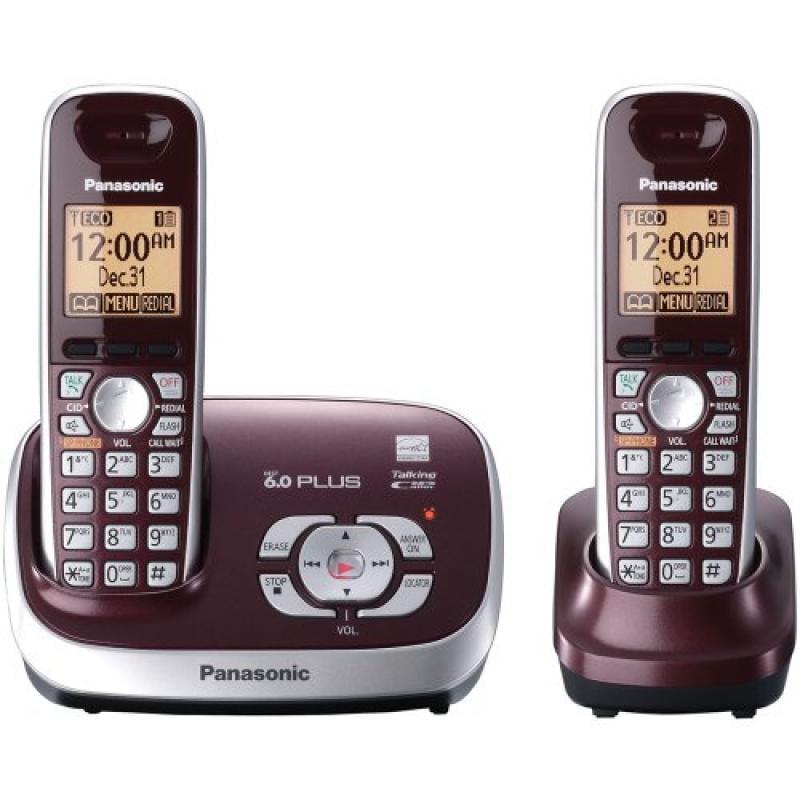 Panasonic KX-TG6572R DECT 6.0 Cordless Phone with Answeri...