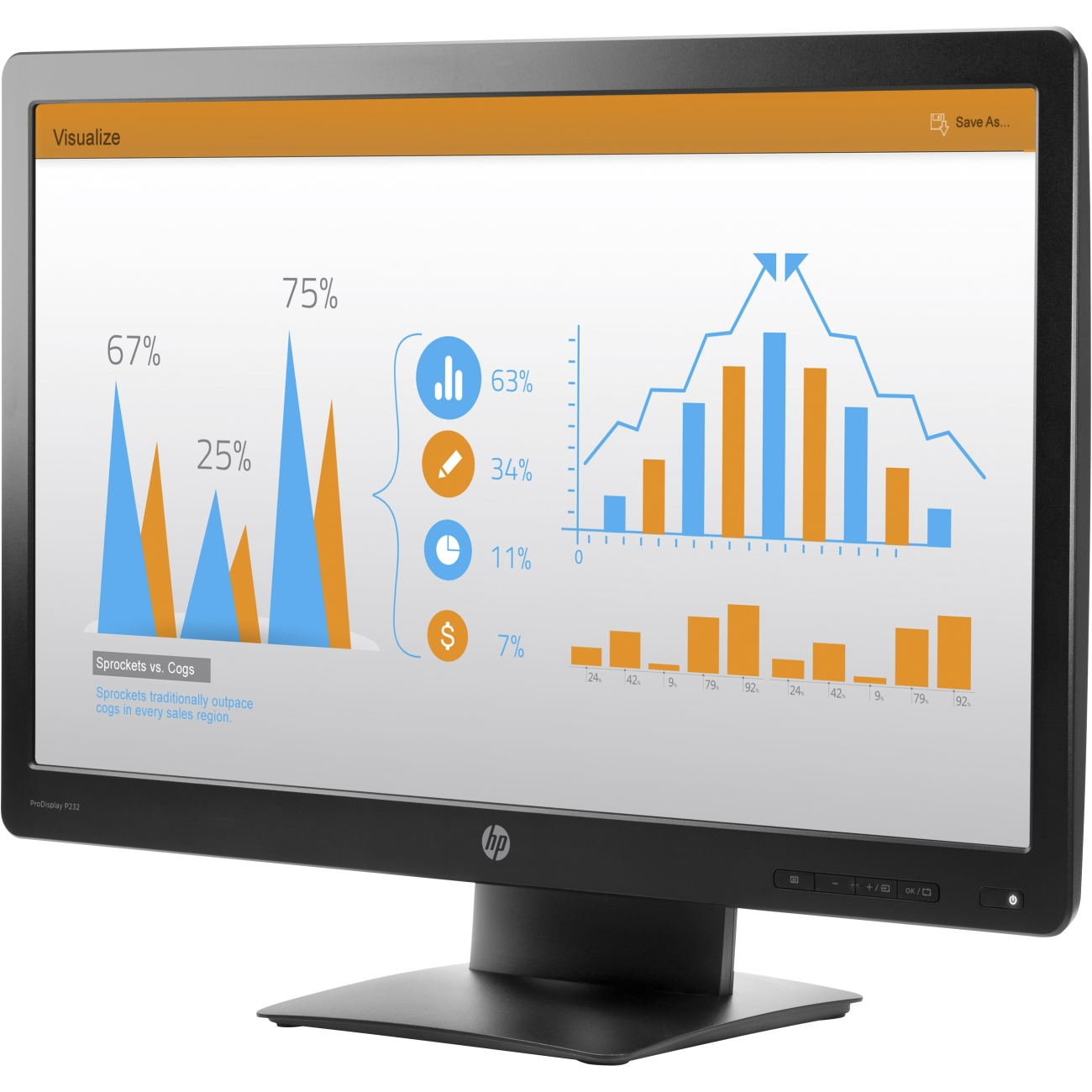 HP ProDisplay P232 - LED monitor - 23""