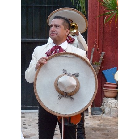 Canvas Print Mariachis Hats Sombrero Musicians Mexico Stretched Canvas 10 x 14