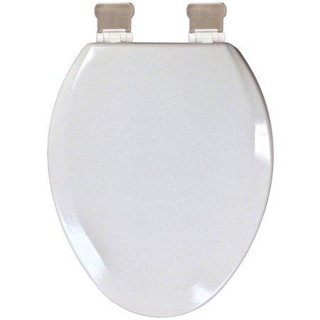 Plum Best Biscuit Molded Wood Premium Elongated Toilet Seat