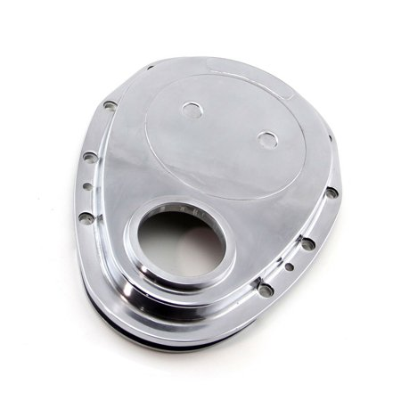 Suit Small Block Chevy 283 305 327 350 Polished Aluminum Timing Chain Cover