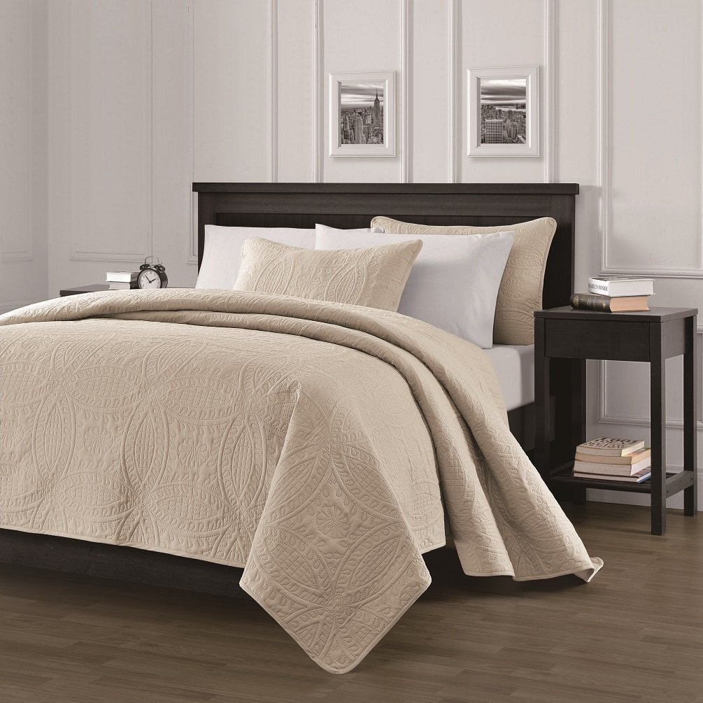 Bedspread Coverlet 3 Pcs Set Oversized By Legacy Decor