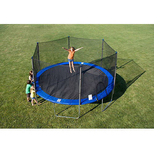 Image of Airzone 15; Blue Round Trampoline with Enclosure Combo