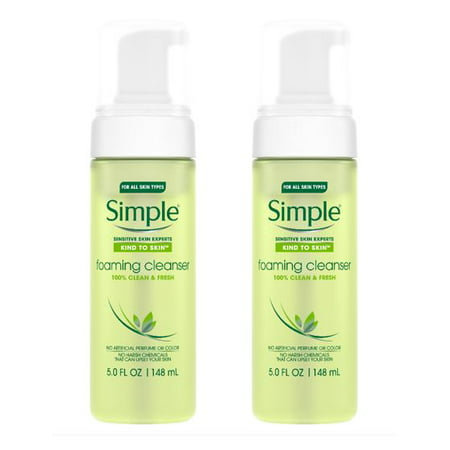 (2 Pack) Simple Kind to Skin Facial Care Foaming Facial Cleanser 5