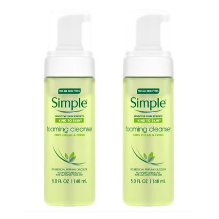 (2 Pack) Simple Kind to Skin Facial Care Foaming Facial Cleanser 5 (White Facial Foam)