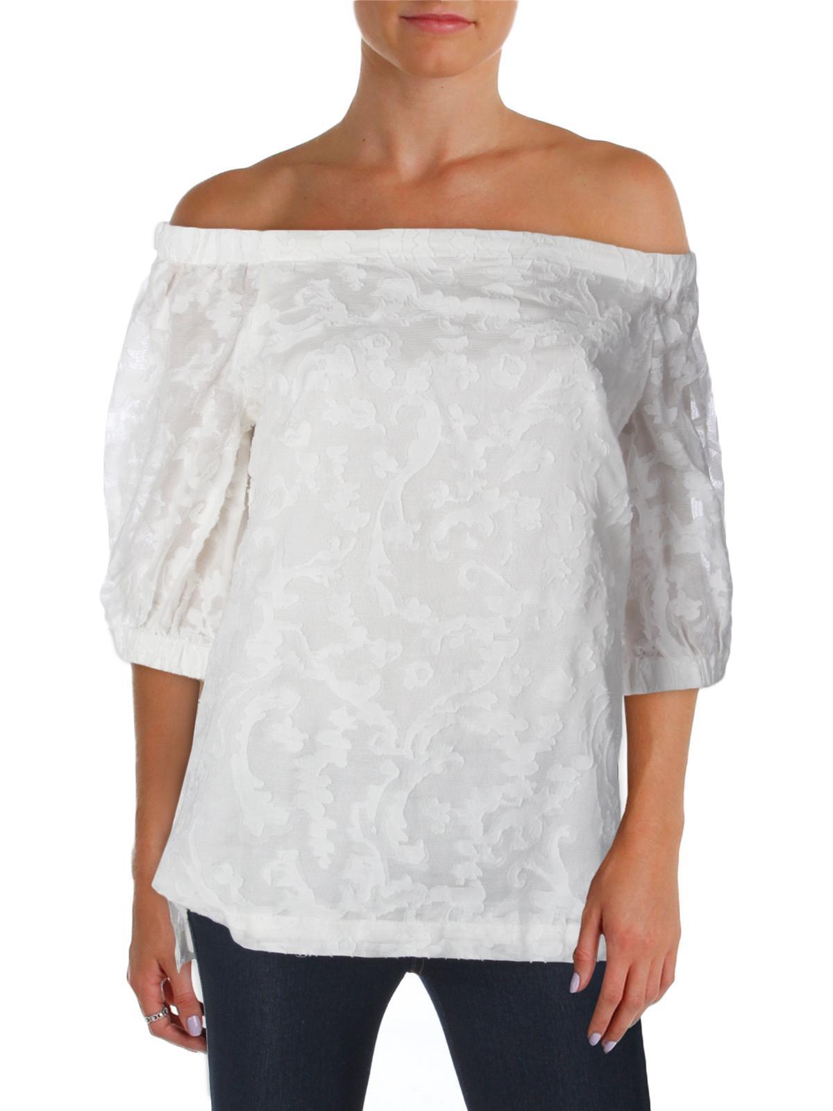 3cda2ce5c73ce5 Lauren Ralph Lauren - Lauren Ralph Lauren Womens Silk Blend Off the Shoulder  Casual Top - Walmart.com