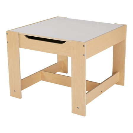 Senda Kids' Wooden Storage Table and Chairs Set, 3 Piece