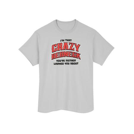 LA Imprints Men's Redneck T-Shirt Top - Gray Short-Sleeve Crew Neck Novelty - Redneck Men