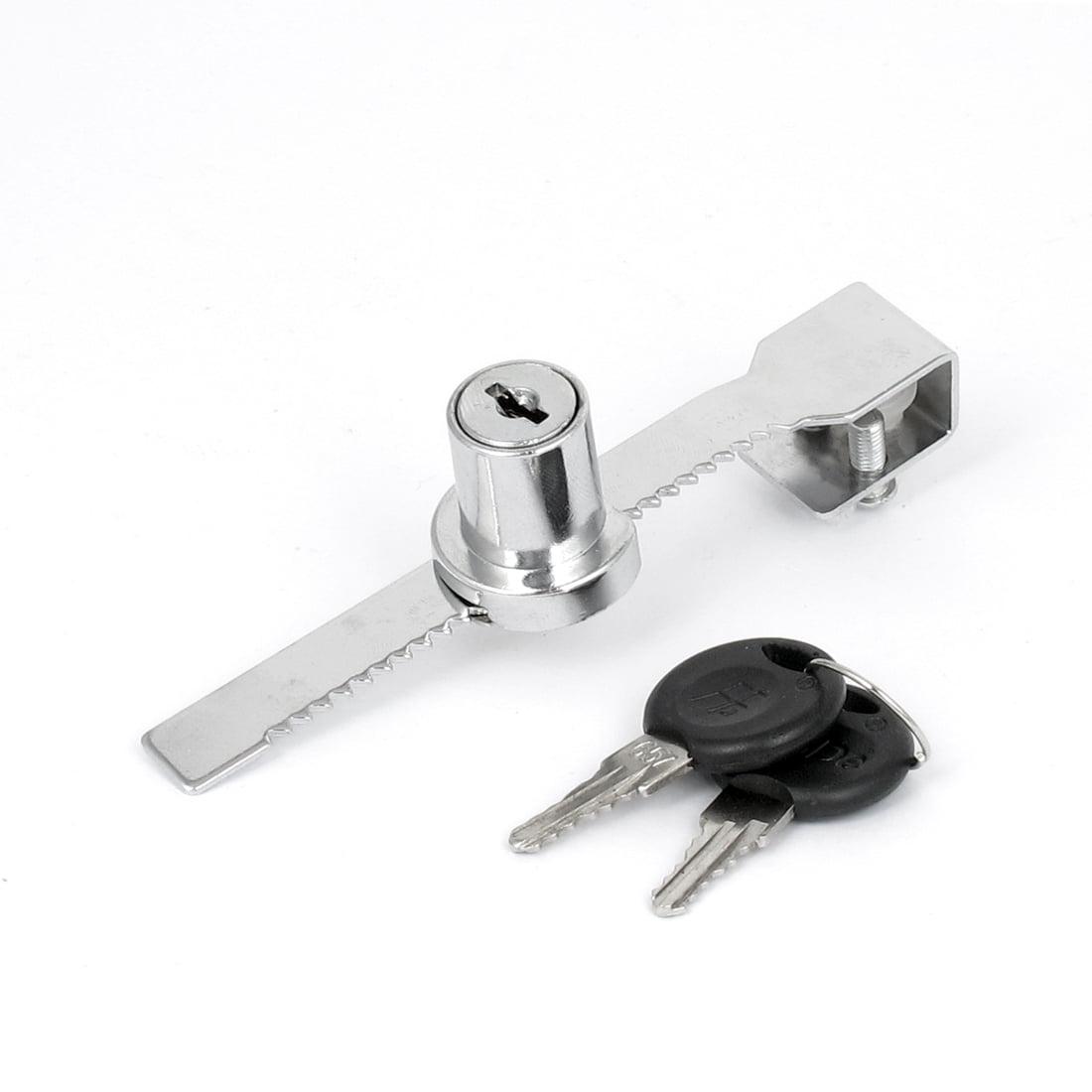 Drawer Display Cabinet Display Cabinet Sliding Glass Door Lock Window Ratchet Lock with Key 1