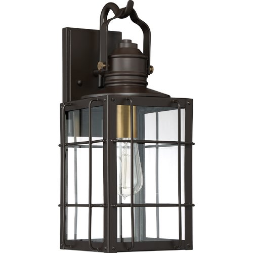 Longshore Tides Victorina Transitional 1-Light Outdoor Wall Lantern