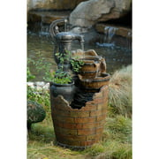 Glenville Water Pump Cascading Outdoor Fountain