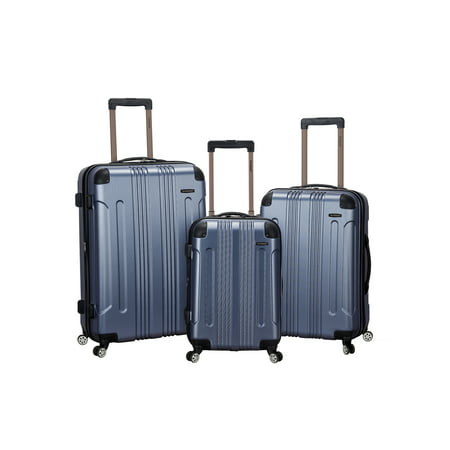 Rockland Sonic 3pc Expandable ABS Spinner Luggage Set - Blue