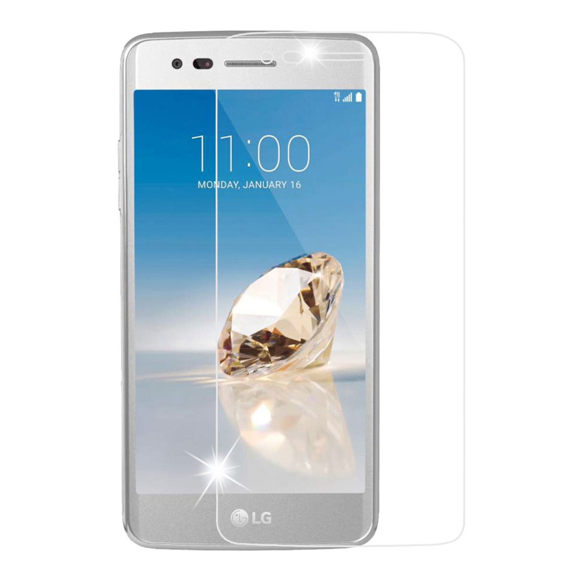 Insten 2.5D Clear Tempered Glass Screen Protector LCD Film Guard for LG Aristo / Fortune / K8 (2017) / LV3 / Phoenix 3