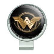 Wonder Woman Movie Golden Lasso Logo Golf Hat Clip With Magnetic Ball Marker