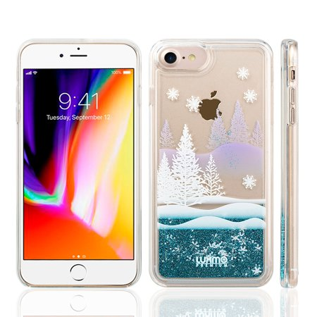 Insten Luxury Quicksand Glitter Liquid Floating Sparkle Bling Fashion Phone Case Cover for Apple iPhone 8 / 7 - Winter Wonderland -