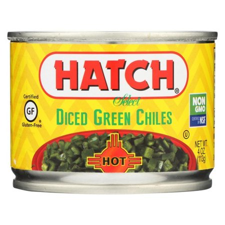 Hatch Chili Hatch Diced Hot Green Chilies - Diced Green Chiles - Pack of 24 - 4 (Hatch Green Chile)