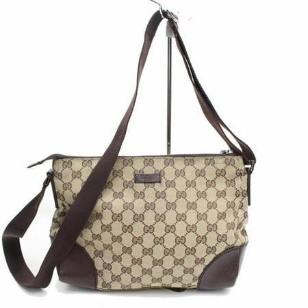 Monogram Gg Messenger 868565 Brown Canvas Cross Body Bag ()