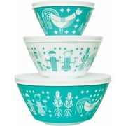 Vintage Charm Inspired by Pyrex 6-Piece Mixing Bowl Set