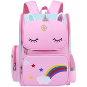 Unicon School Backpack for girls Elmentary School, Light Weight Kids backpack ,Water Proof children School Bag,16 inch Book bag