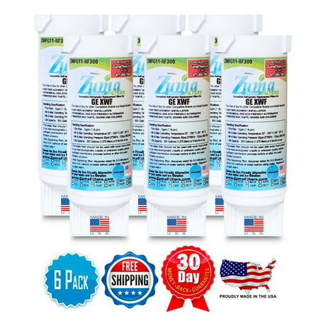 GE GSS25 Compatible Refrigerator Water and Ice Filter 6 Pack ZWFG11 RF