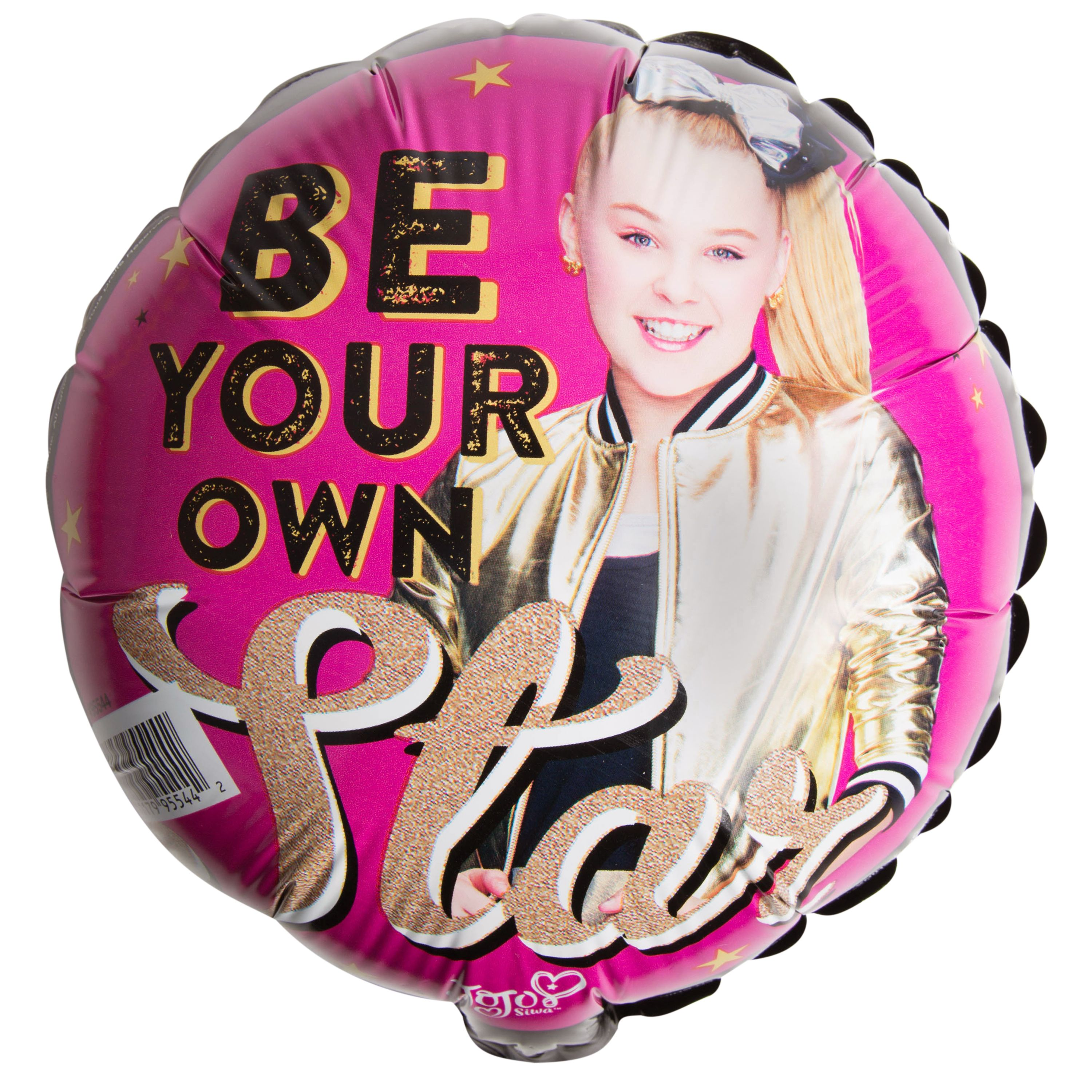 "JoJo Siwa Party 9"" Foil Star Balloon with Stick"