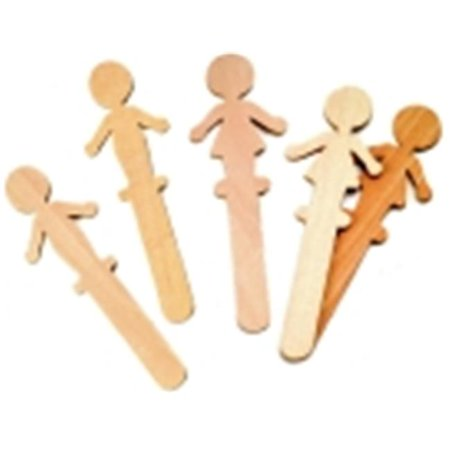 Chenille Kraft 6 in. Wood People Craft Stick, Pack - 36