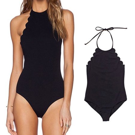 One piece swimsuits for women ,Women One Piece Bandage Swimwear Plus Size Padded Bikini Monokini Swimsuit Beachwear S/M/L/XL/XXL - Trendy Monokini